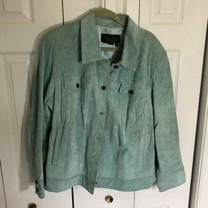 Terry Lewis Teal Suede Leather Jacket